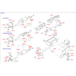 Выхлопная труба (Hyundai-KIA) 2861038106
