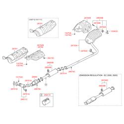 Нейтрализатор выхлопных газов (Hyundai-KIA) 289502G490