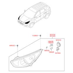 Лампочка фары (12в, 55вт) (Hyundai-KIA) 1864755007