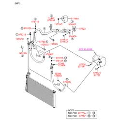 Компрессор кондиционера (Hyundai-KIA) 977013K220