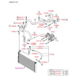 Компрессор кондиционера (Hyundai-KIA) 977013K520