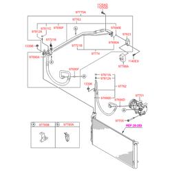 Компрессор кондиционера (Hyundai-KIA) 977013R000