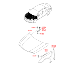 Крыло переднее (Hyundai-KIA) 663113S000