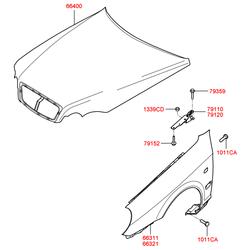 Крыло (Hyundai-KIA) 663113D200
