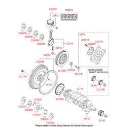 Маховик двигателя (Hyundai-KIA) 2320025201
