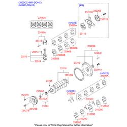 Маховик двигателя, сталь (Hyundai-KIA) 2321038001
