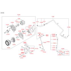 Крышка выпрямительного блока генератора (Hyundai-KIA) 3739038400