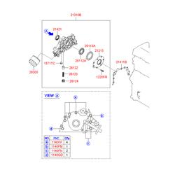 Масляный насос двигателя (Hyundai-KIA) 2131023002