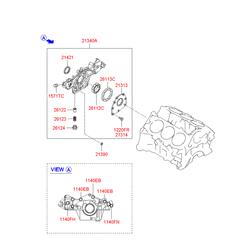 Насос масляный (Hyundai-KIA) 2131037100