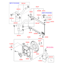 Вентилятор (Hyundai-KIA) 2538038001