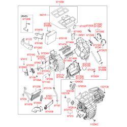 Вентилятор отопителя, 80вт (Hyundai-KIA) 971133K000