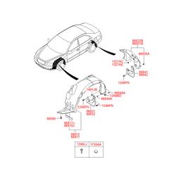 Подкрылок (Hyundai-KIA) 868123K500