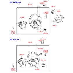 Подушка безопасности в сборе (Hyundai-KIA) 569003D000TI
