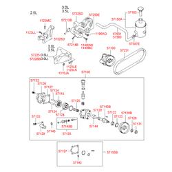 Подшипник гидроусилителя (Hyundai-KIA) 571433A000