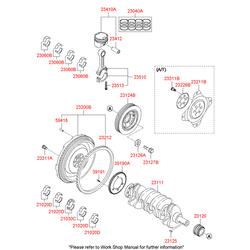 Подшипник скольжения шатуна, d=45mm (Hyundai-KIA) 230602G121