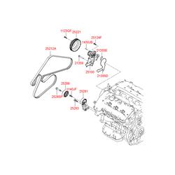 Прокладочное кольцо-водяной насос (Hyundai-KIA) 213553C510
