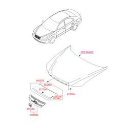 Решетка радиатора (Hyundai-KIA) 863503K000