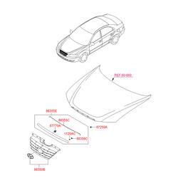 Решетка радиатора (Hyundai-KIA) 863503K800
