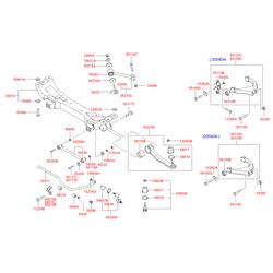 Сайлентблок заднего рычага (Hyundai-KIA) 5513038002
