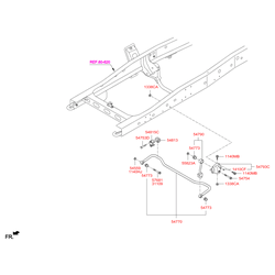 Втулка стабилизатора (Hyundai-KIA) 548132T000