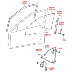 Стеклоподъемника механизм (Hyundai-KIA) 8240338011