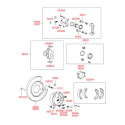 Суппорт дискового тормоза (Hyundai-KIA) 5831038A10