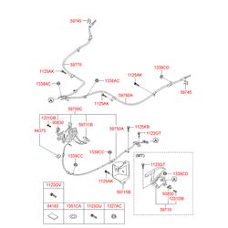 Концевой выключатель сигнала стояночного тормоза (Hyundai-KIA) 938303S000