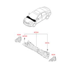 Поперечина моторного отсека (Hyundai-KIA) 667003S060
