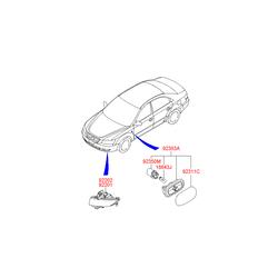 Фара противотуманная (Hyundai-KIA) 922023K000