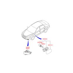 Фара противотуманная (Hyundai-KIA) 922023K500