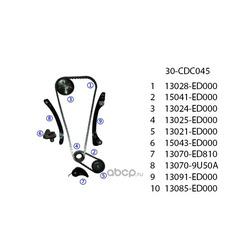 Комплект грм (United Motors) 30CDC045