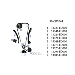 Комплект ГРМ (United Motors) 30CDC044
