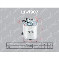 Фильтр масляный (LYNXauto) LF1907