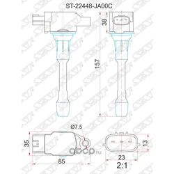 Катушка зажигания (Sat) ST22448JA00C