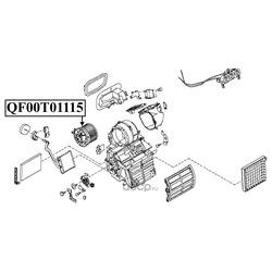Мотор отопителя салона (QUATTRO FRENI) QF00T01115