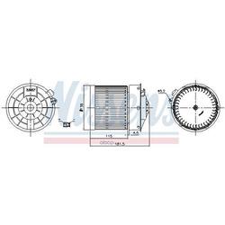 Вентилятор салона (Nissens) 87722