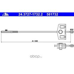 Трос, стояночная тормозная система (Ate) 24372717322