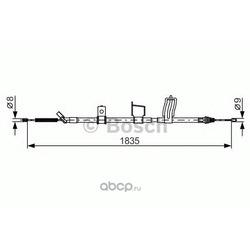 Тормозной трос (Bosch) 1987482341