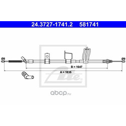 Трос, стояночная тормозная система (Ate) 24372717412