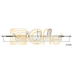 Трос стояночного тормоза правый задний (Cofle) 170328