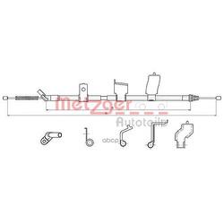 Трос, стояночная тормозная система (METZGER) 170327