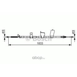 Трос ручного тормоза (Bosch) 1987482340
