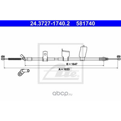Трос, стояночная тормозная система (Ate) 24372717402