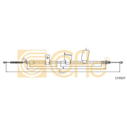 Трос стояночного тормоза левый задний (Cofle) 170327