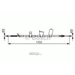 Трос стояночного тормоза (Bosch) 1987482338