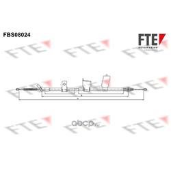 Трос стояночного тормоза левый (FTE Automotive) FBS08024