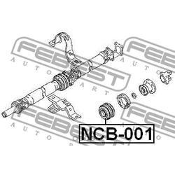Подшипник подвесной карданного вала (Febest) NCB001