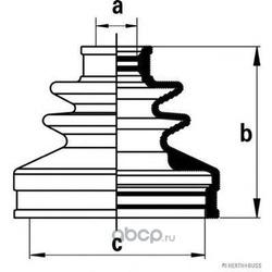 Комплект пыльника, приводной вал (H+B Jakoparts) J2861028