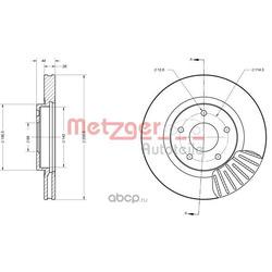 Тормозной диск (METZGER) 6110177