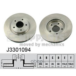 Диск тормозной передний (Nipparts) J3301094